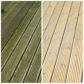 Decking cleaned