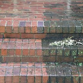 brick steps cleaning