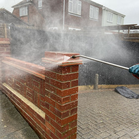 brickwork wall clean