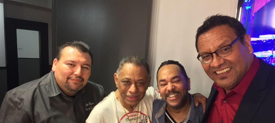 L-R Chico Manqueros, Joe Batann and GQ, before a gig.