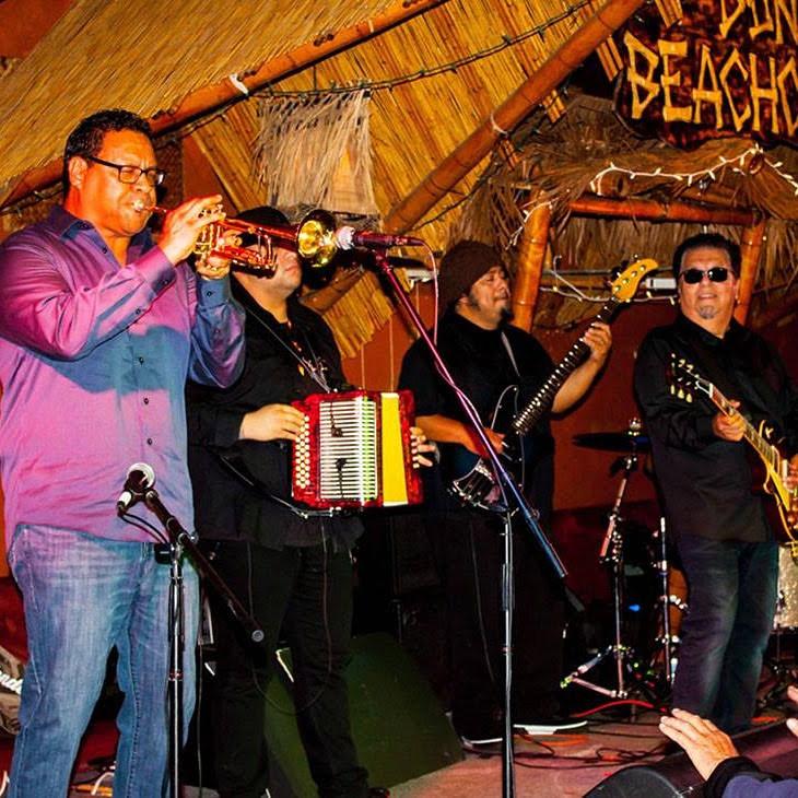 With Cesar Rosas of Los Lobos