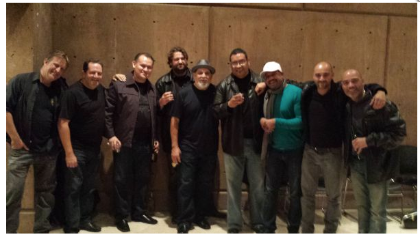 Post gig with Poncho Sanchez Band