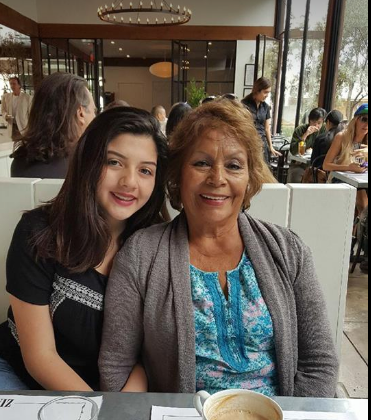 My mom and daughter, Natalie.