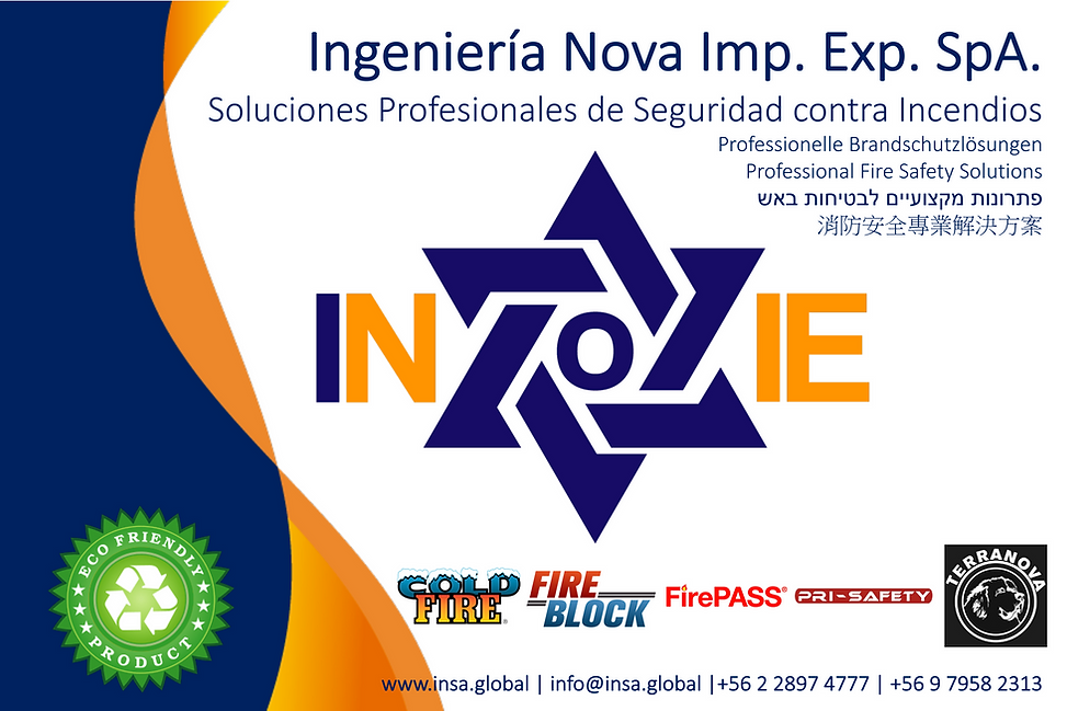 INOVAIE COLD FIRE FIRE BLOCK FIREPASS PRI-SAFETY AFSS-CF TERRANOVA EXTINTOR CHILE
