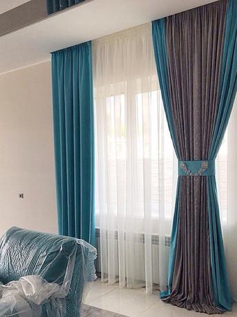 Элегантные шторы в гостинной