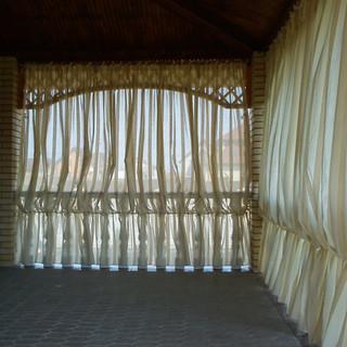 шторы в кафе