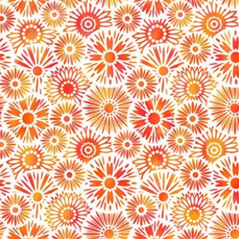 Unusual Garden II - Bloom (Orange/White)