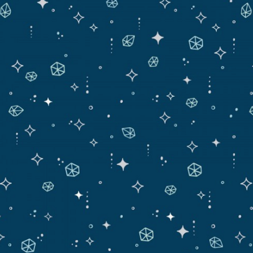 Moongate - Asteroids - Navy Blue