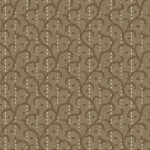 Heritage Woolies - Stitched Scroll - Tan