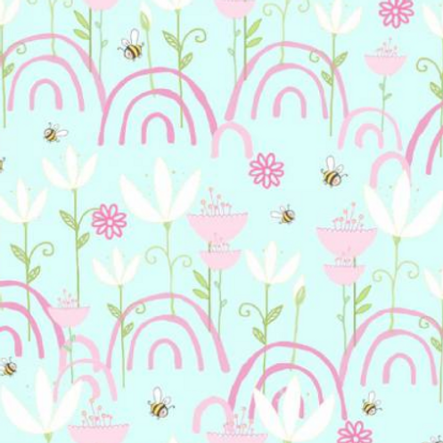 Itty Bittys Children's Flannel - Blue Flowers