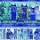 Thumbnail: Feline Frolic - Blue Metallic - Border