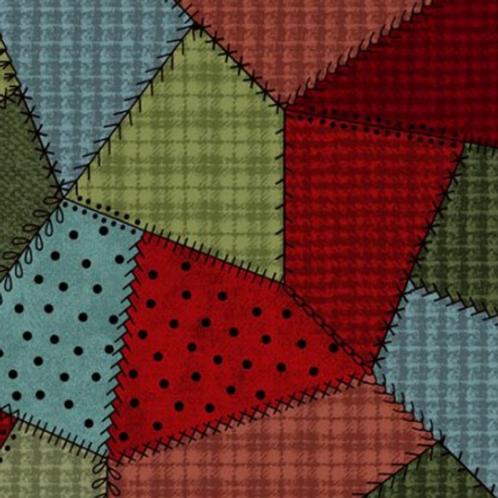 Woolies Flannel - Crazy Quilt