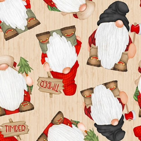 Timber Gnomies - Tossed Gnomes Beige