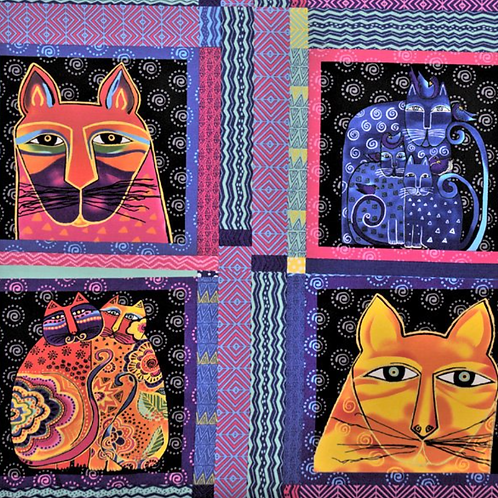 Feline Frolic - Metallic - Panel