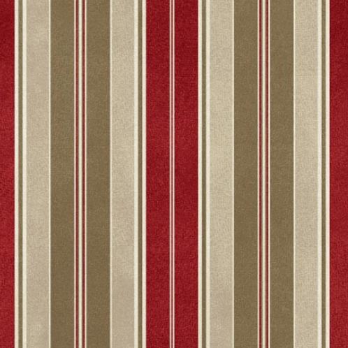 Heritage Woolies - Awning Stripe - Red/Brown