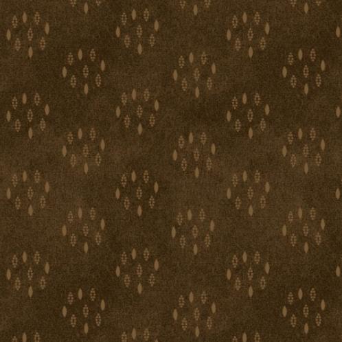 Heritage Woolies - Circle Dots - Brown
