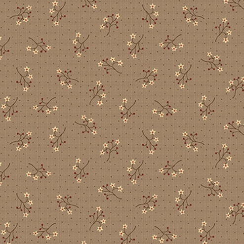 On the 12th Day - Starflower Sprigs - Brown