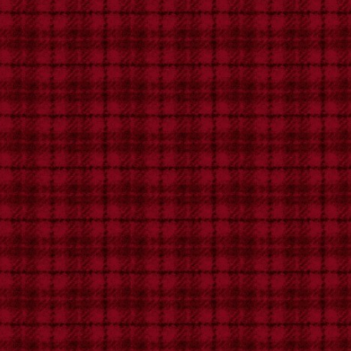 Woolies Flannel - Red - Plaid