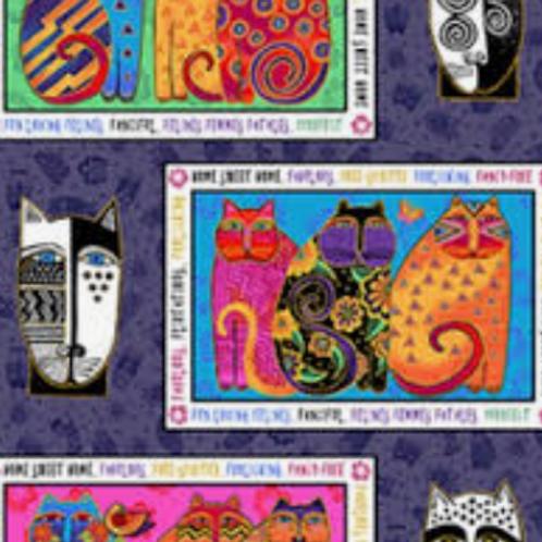 Feline Frolic - Purple Metallic - Panel