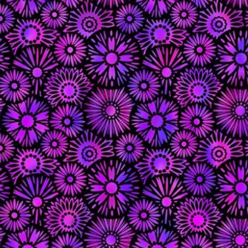 Unusual Garden II - Bloom (Violet/Black)