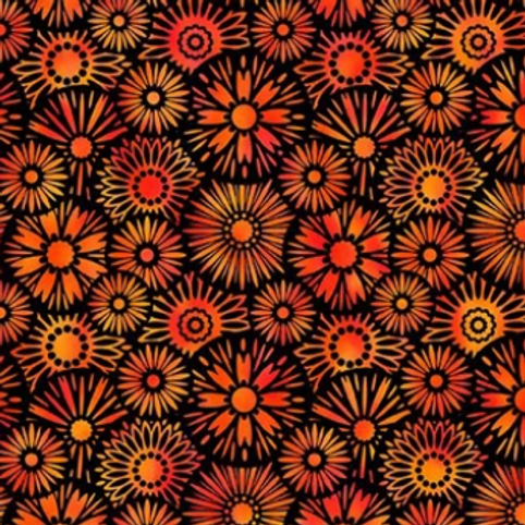 Unusual Garden II - Bloom (Orange/Black)