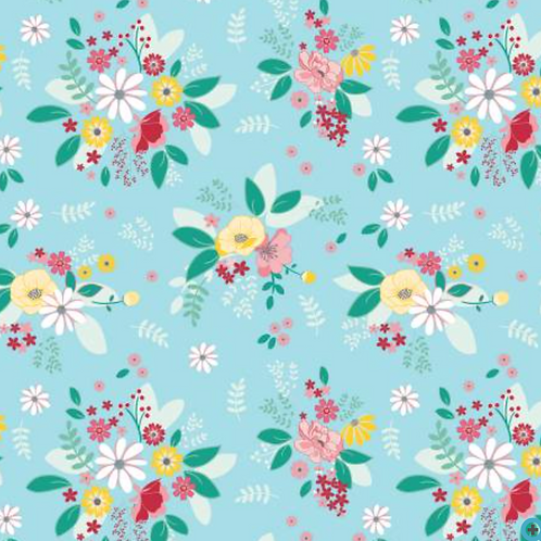 Singing in the Rain - Teal Floral