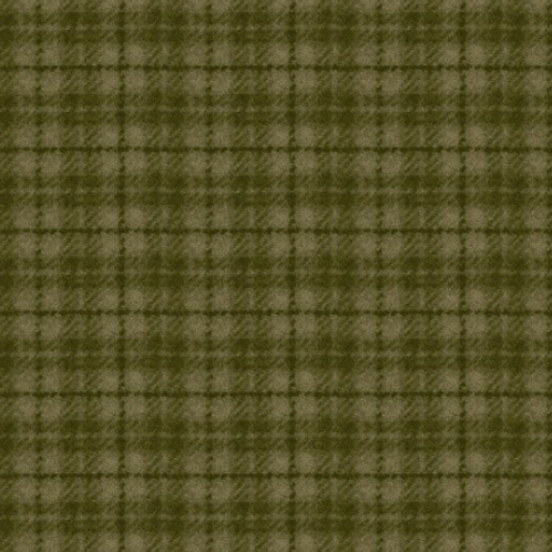 Woolies Flannel - Green - Plaid