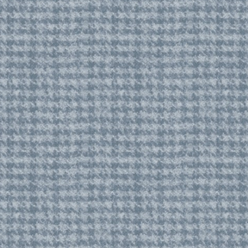 Woolies Flannel - Blue - Houndstooth