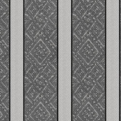 Heritage Woolies - Brocade Stripe - Grey