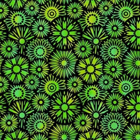 Unusual Garden II - Bloom (Green/Black)
