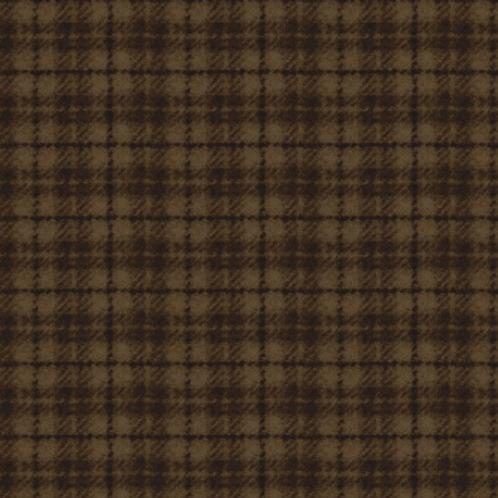 Woolies Flannel - Dark Brown - Plaid