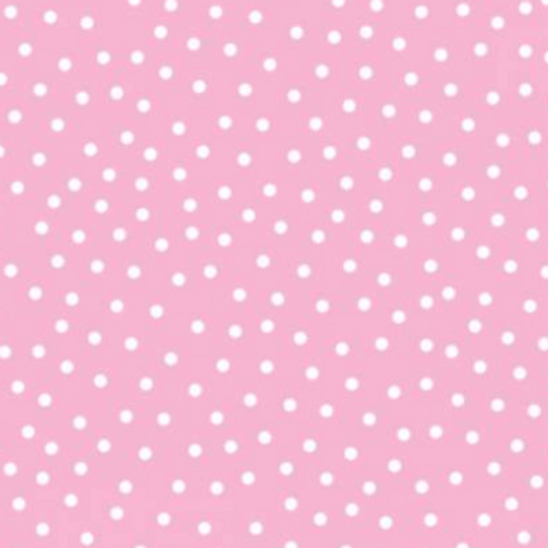 Itty Bittys Children's Flannel - White Pink Dot