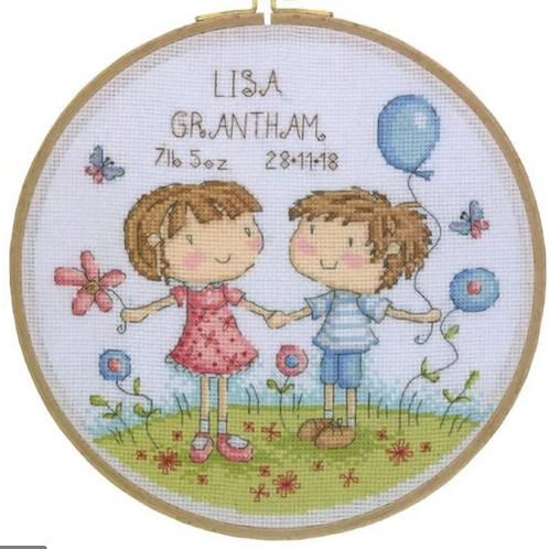 Cross Stitch Kit - Boy and Girl