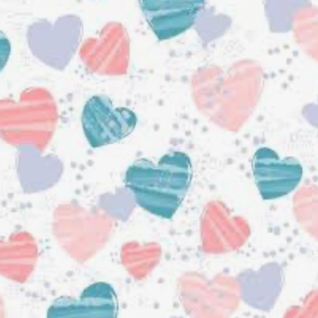 Mommy Me - Flannel - White w/Multi Hearts