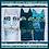 Thumbnail: Feline Frolic - Blue Metallic - Panel