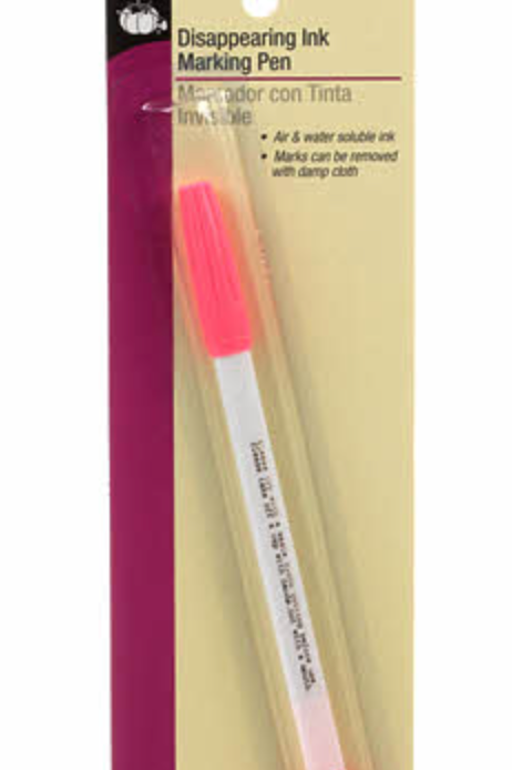 Dritz Disappearing Ink Pen Pink