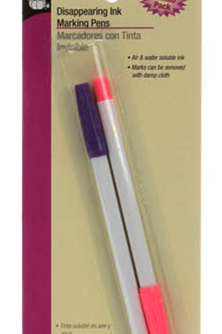 Dritz Disappearing Ink Pen Combo Pack Pink and Purple