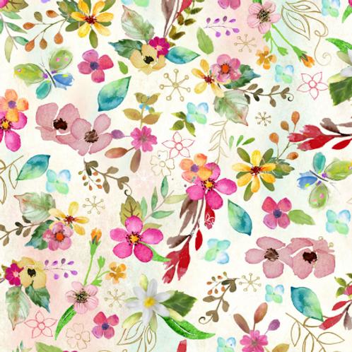 Bloom w/Grace - White w/Floral - Digital