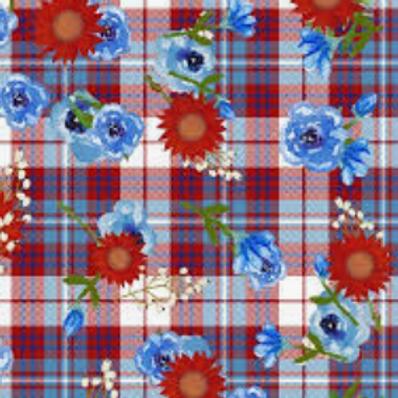 American Spirit - Floral Plaid