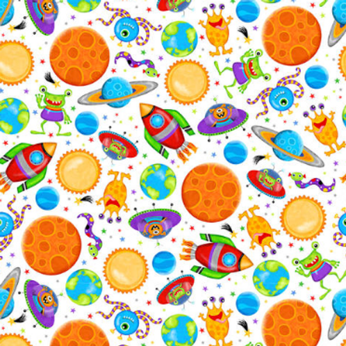 Lost in Space - Planets (White)