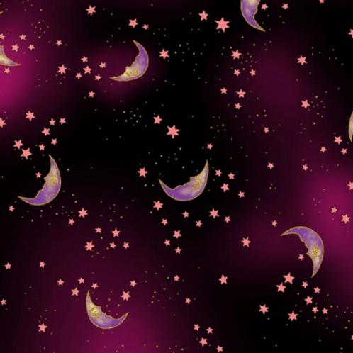 Celestial Magic - Moons - Purple Metallic