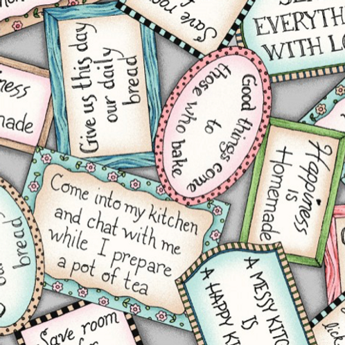 Happiness Is Homemade - Labels - Gray