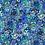 Thumbnail: Feline Frolic - Blue Metallic Cats