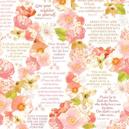 Believe - Large Floral and Text