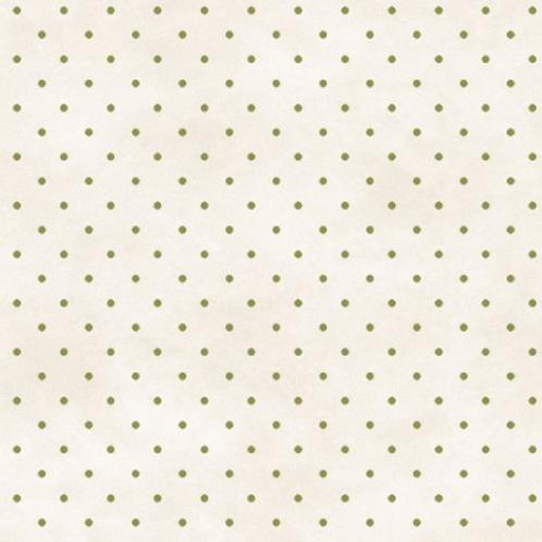 Beautiful Basics - White w/Brown Dots