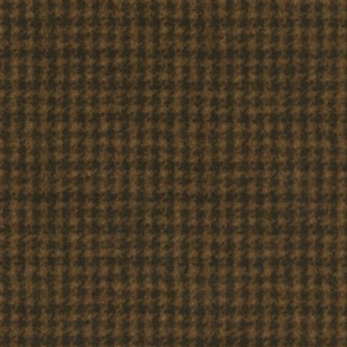 Woolies Flannel - Dark Brown - Houndstooth