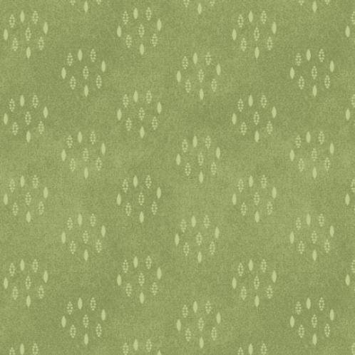 Heritage Woolies - Circle Dots - Green