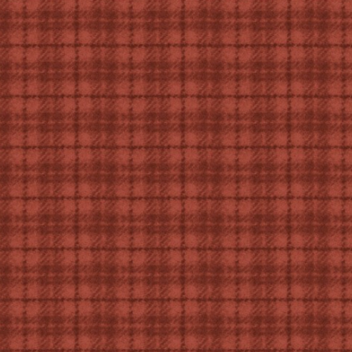 Woolies Flannel - Red/Orange - Plaid