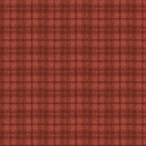 Woolies Flannel - Red/Orange - Plaid