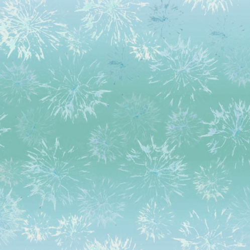 Believe - Teal Floral Brush